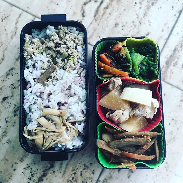 今日のお弁当♪ゴボウのキンピラが上手に出来た!#sudach #蘇大地 #田舎暮らし #田舎あるある #お弁当 #お弁当の日 #お弁当作り楽しもう部 #お弁当作り (Instagram)